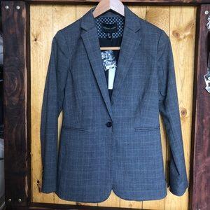 Gray plaid blazer size small
